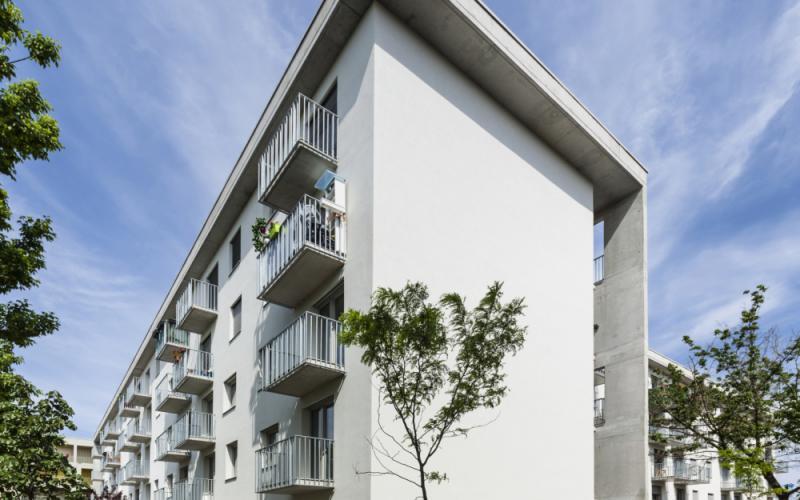 100 lakásos Passzívház