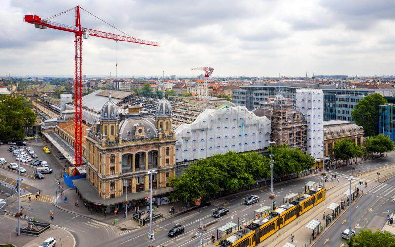 A tervezett tempóban halad a Nyugati pályaudvar felújítása - galéria