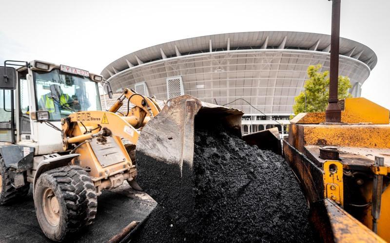 Hamarosan befejeződik az úthálózat felújítása a Puskás Aréna környékén