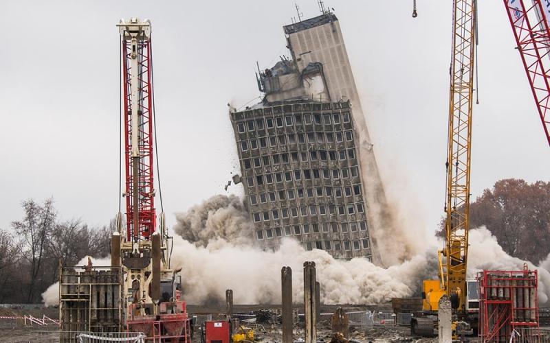 VITUKI robbantás 2020.12.10. Nemzeti Atlétikai Stadion kivitelezésén