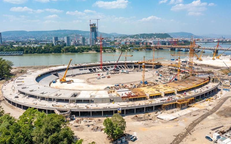 Hamarosan elkészül a Nemzeti Atlétikai Stadion szerkezete