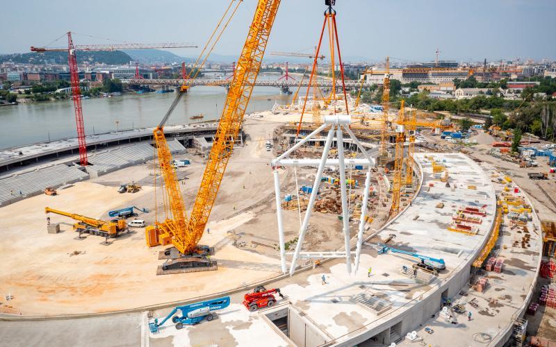 Látványos szakaszhoz érkezett a Nemzeti Atlétikai Stadion építése - videó