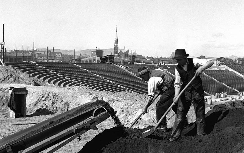 Így épült Budapesten az új nemzeti stadion