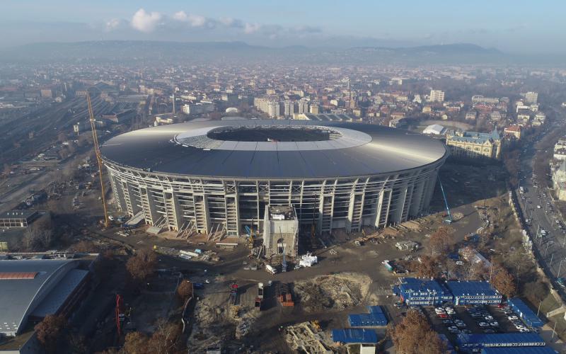 Terv szerint halad a megújuló Puskás Ferenc Stadion