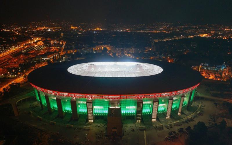 Nemzeti színekbe öltözött az Új Puskás Stadion